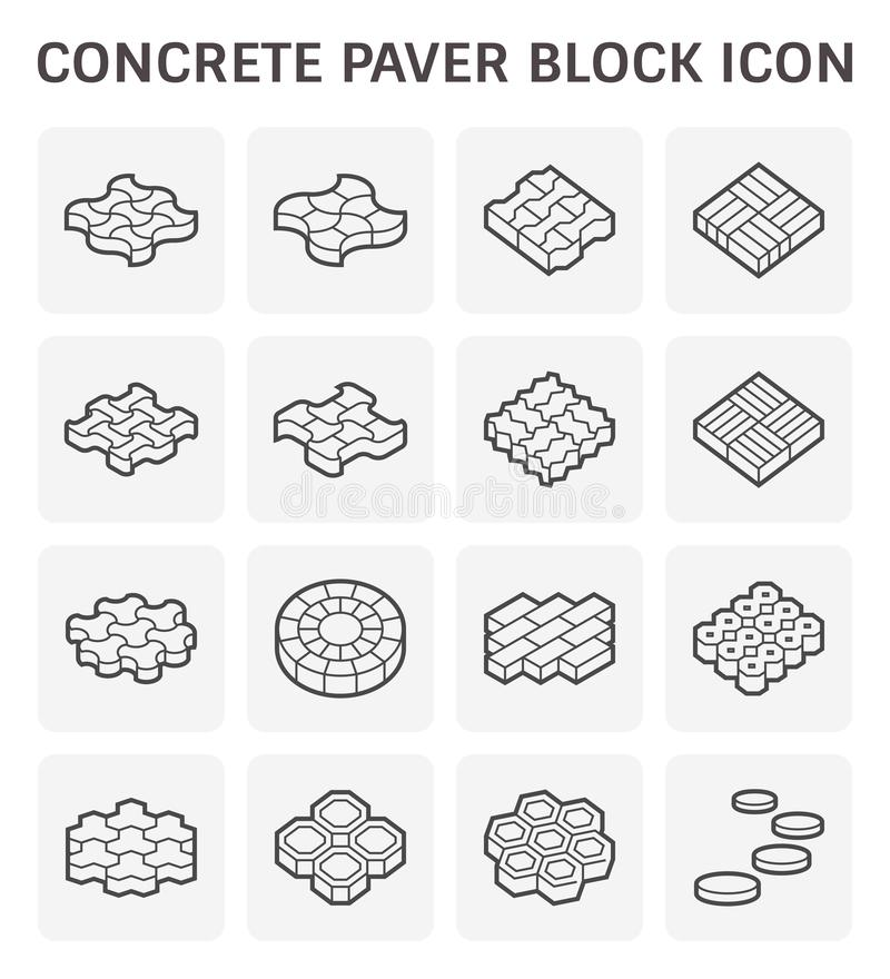 Paver block floor stock illustration