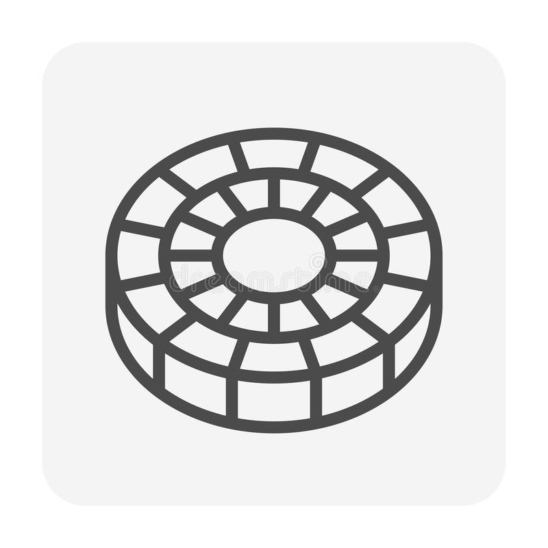 Paver block icon royalty free illustration