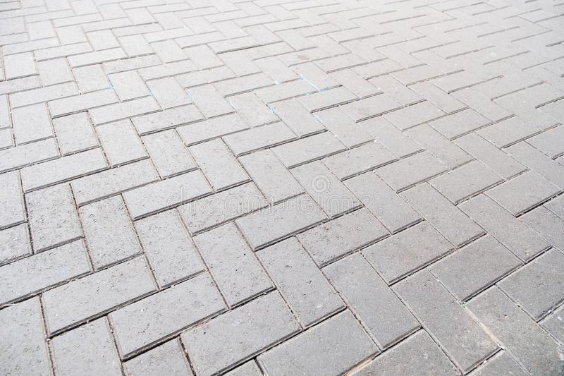 Concrete paver block floor pattern for background royalty free stock images