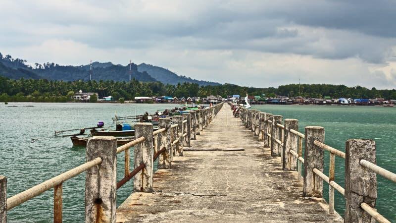 Download Concrete Pier stock image. Image of cloud, boats, libong - 23331443