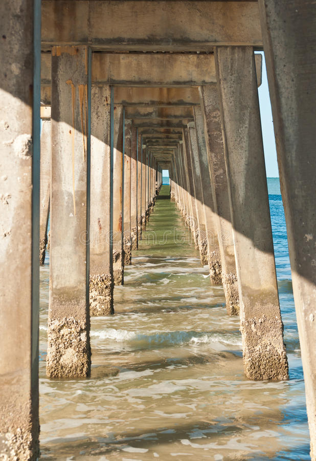 Download Concrete Pilings Supporting A Pier Stock Photo - Image: 83714210