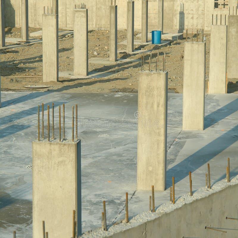 Concrete Pillars Foundation Underground Parking Royalty Free Stock Photos