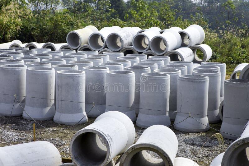 Concrete pipe stock photo
