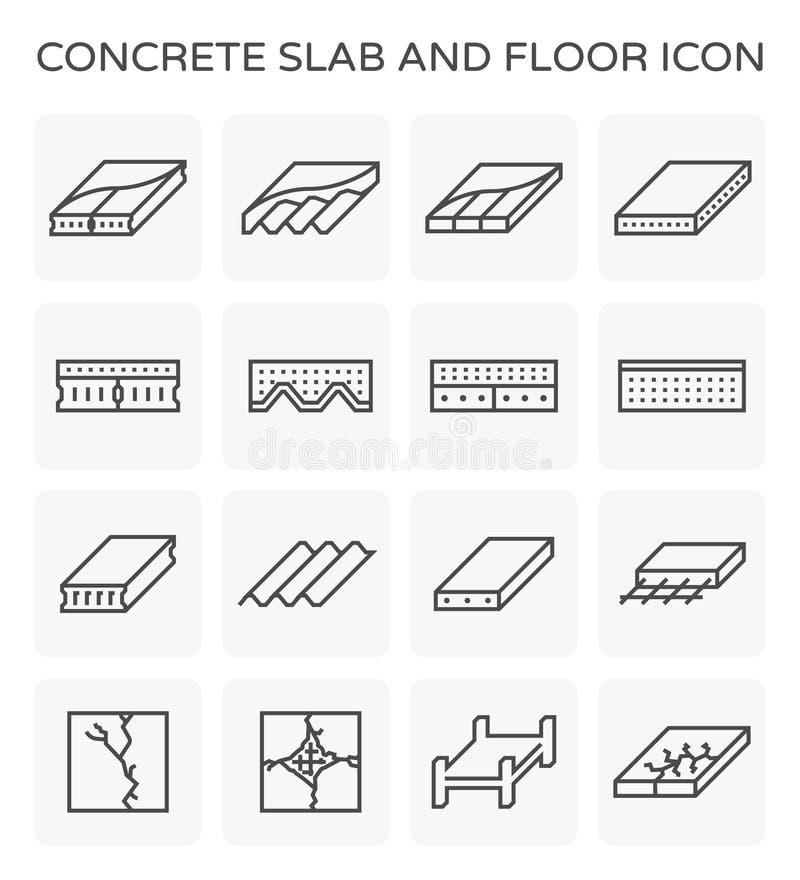 Concrete plakpictogram stock illustratie