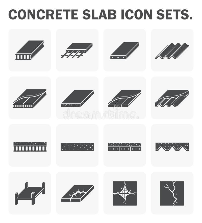 Concrete plakpictogrammen royalty-vrije illustratie