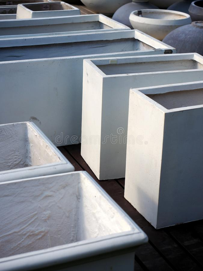 Concrete Planter Boxes stock image