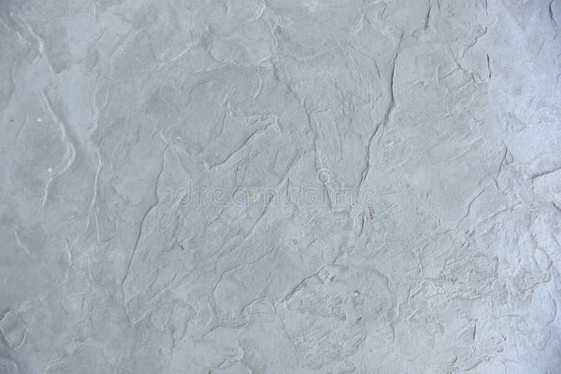 Concrete Pleistertextuur, witte grijze naadloze achtergrond, stock afbeeldingen
