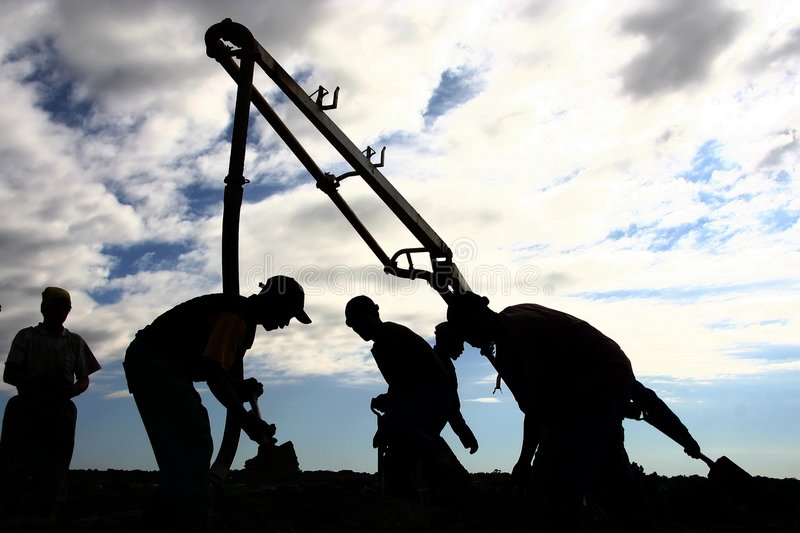 Download Concrete Pouring stock photo. Image of building, workmen - 3091756