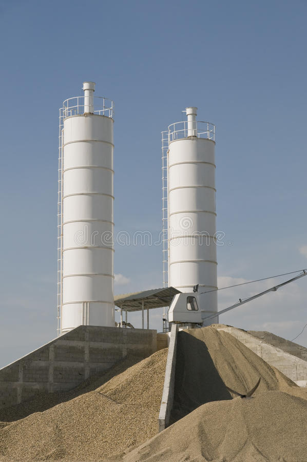 Concrete Production Royalty Free Stock Photography