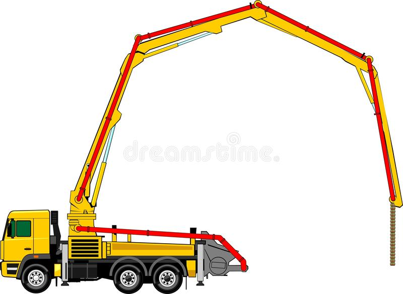 Download Concrete pump stock vector. Image of support, machine - 23402103