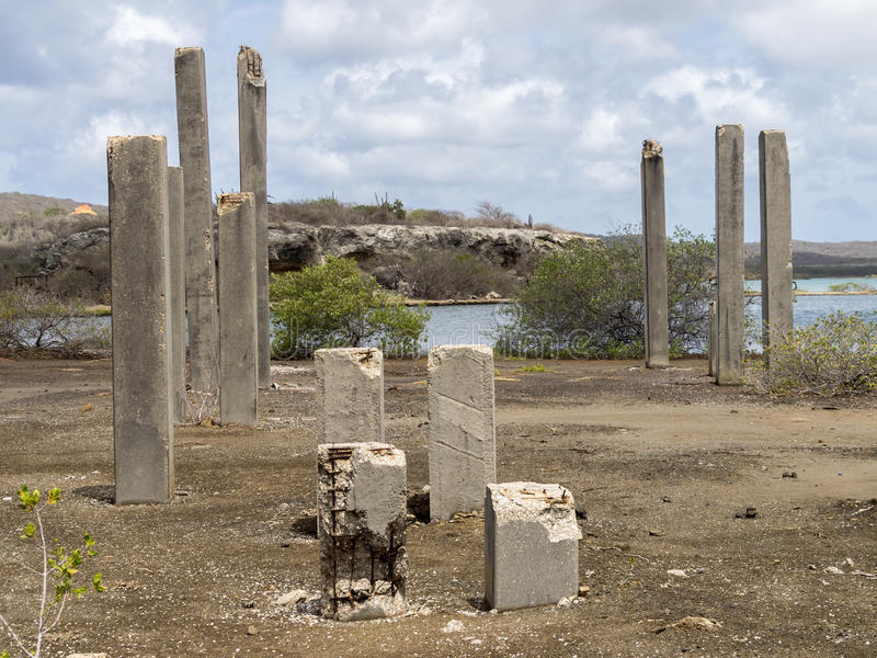 Concrete pylonen stock afbeeldingen