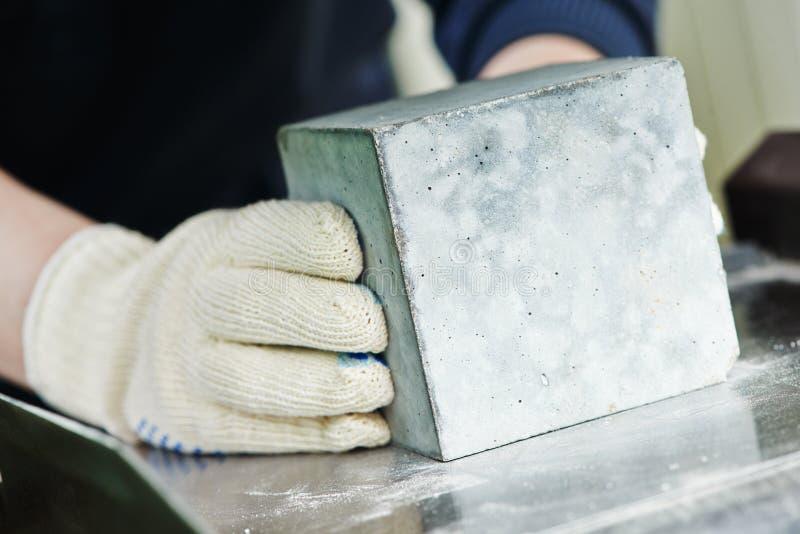 Concrete quality test stock photo