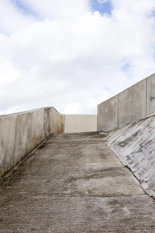 concrete ramp on a beach in north wales uk stock image image of