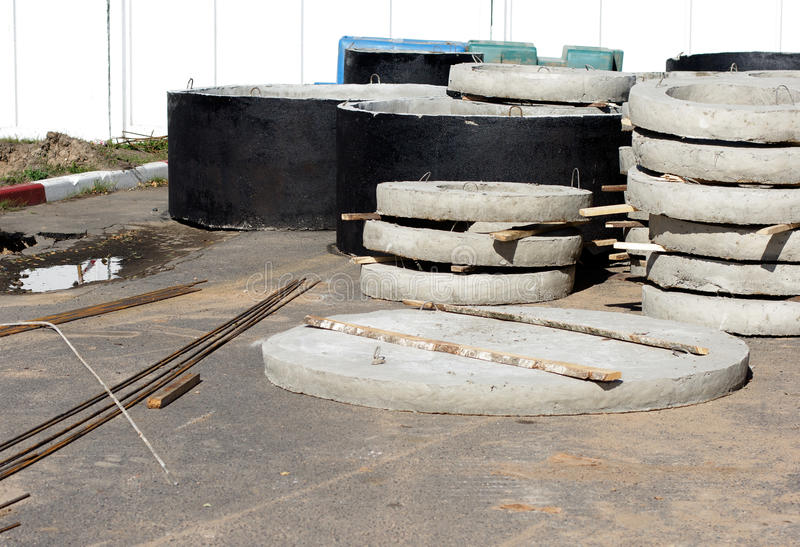 Download Concrete Rings For Water Or Draw-wells Stock Photo - Image: 26626208