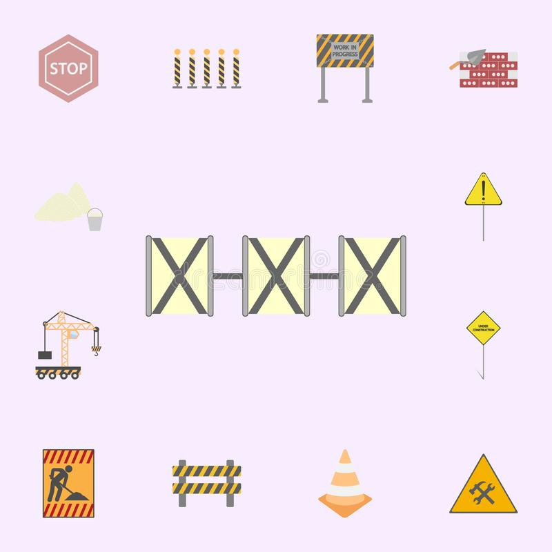 Concrete road barriers colored icon. Building materials icons universal set for web and mobile. On color background royalty free illustration