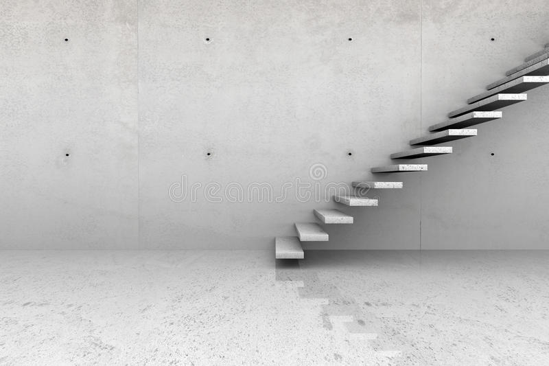 Download Concrete Room With Stairs Stock Photography - Image: 31250612