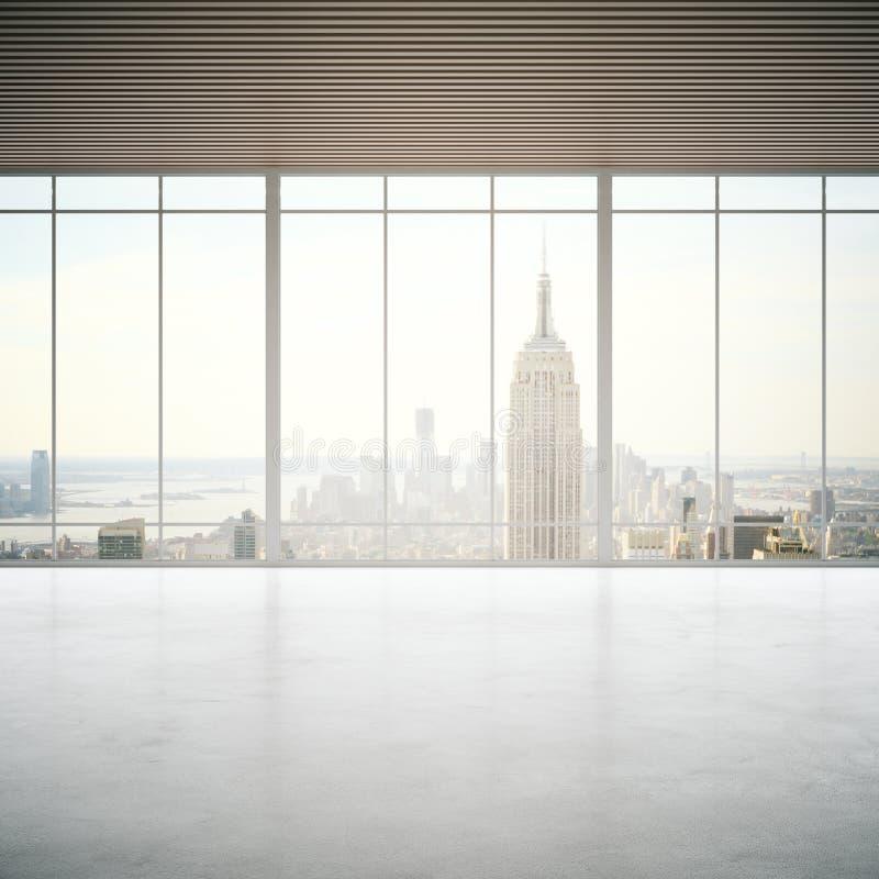 Concrete ruimte met stadsmening stock illustratie