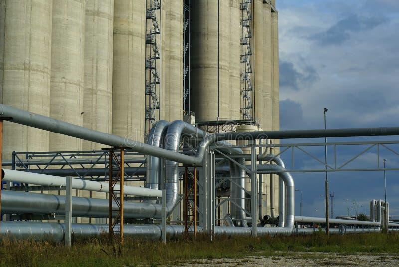 Concrete silos royalty free stock photo