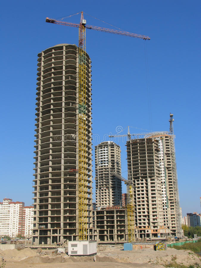 Download Concrete skycrapers stock image. Image of apartments - 11893893