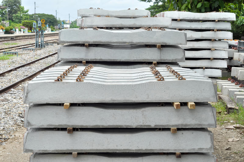 Concrete sleeper royalty free stock photography