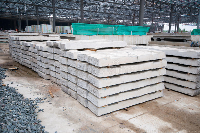 Concrete sleepers stock photography