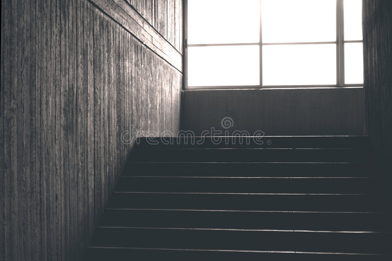 Concrete staircase royalty free stock image