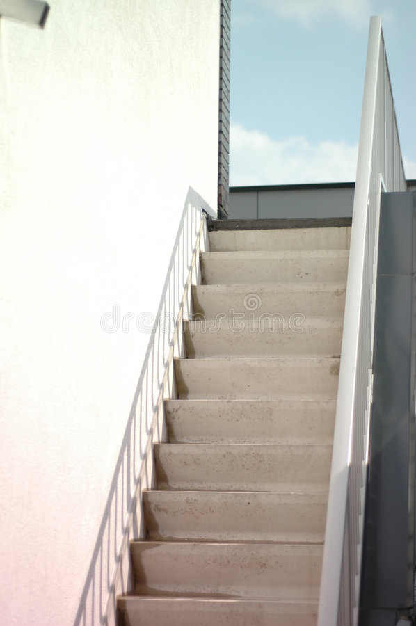 Concrete stairs stock photos