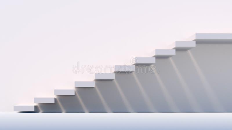 Concrete stairs illuminated by sun stock photos
