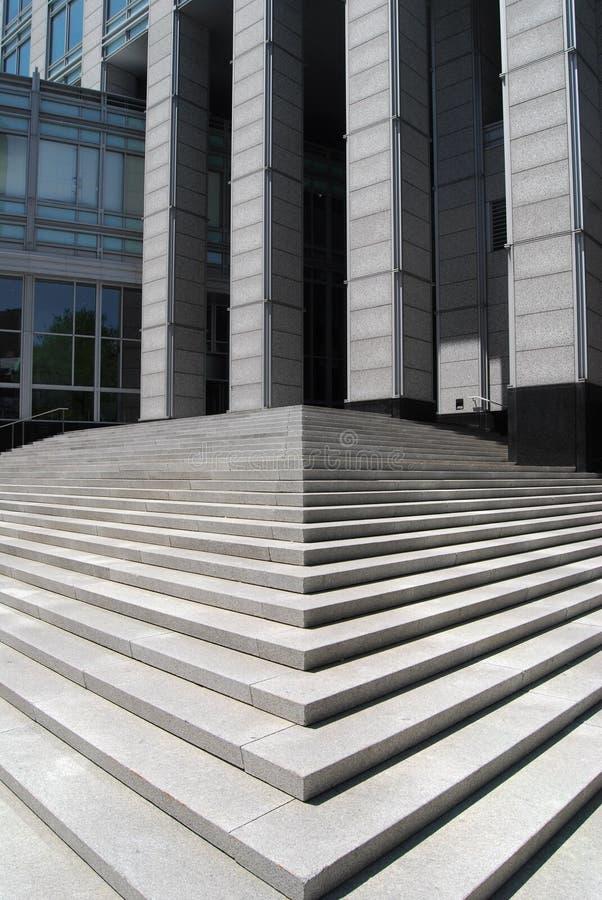Concrete stappen stock afbeelding