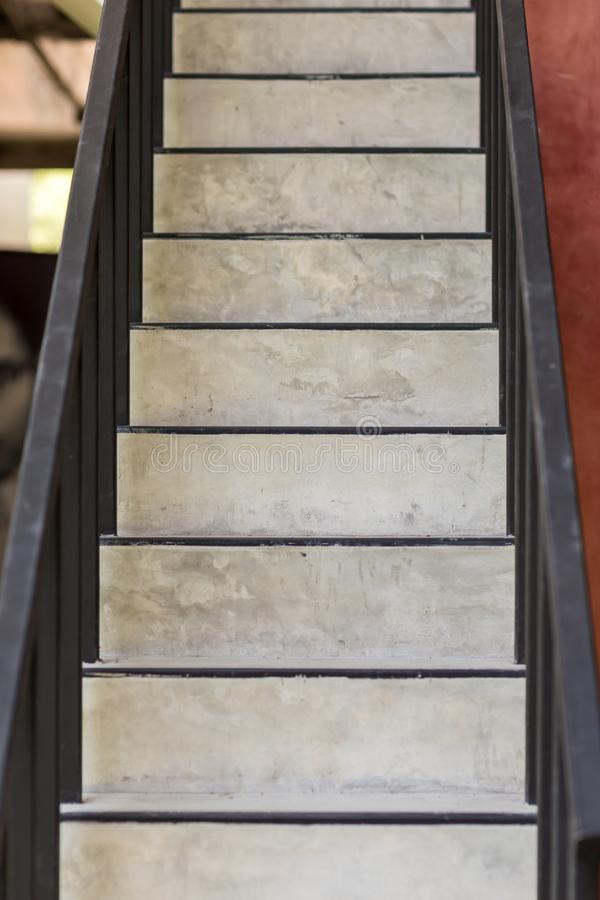 Concrete steps.ladder texture.Cement concrete stair.Abstract modern concrete stairs to building. step of stairs for background. stock image