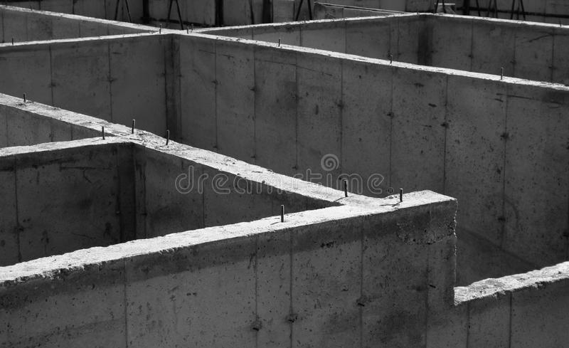 Concrete Stichting stock afbeeldingen