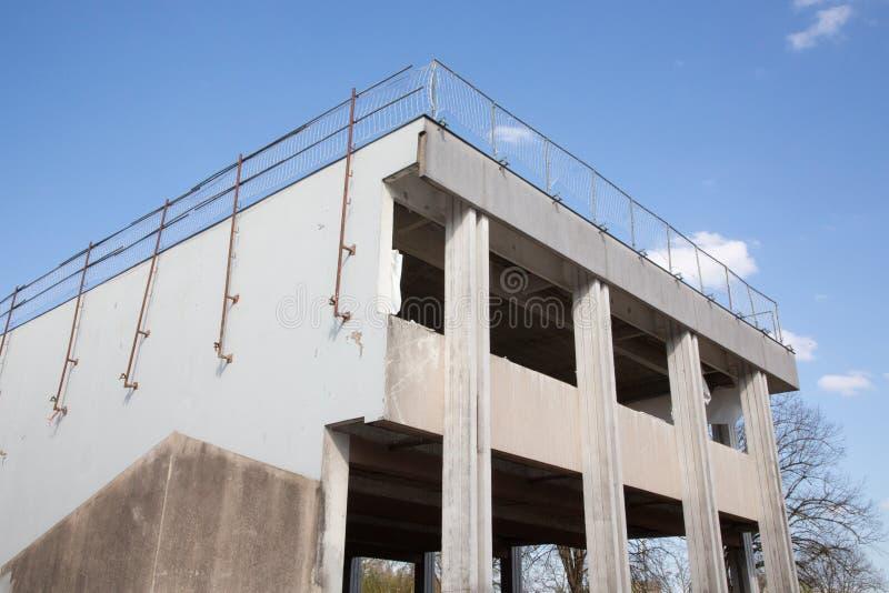 Concrete structure beam column slab epoxy floor construction site building. A Concrete structure beam column slab epoxy floor construction site building royalty free stock photography
