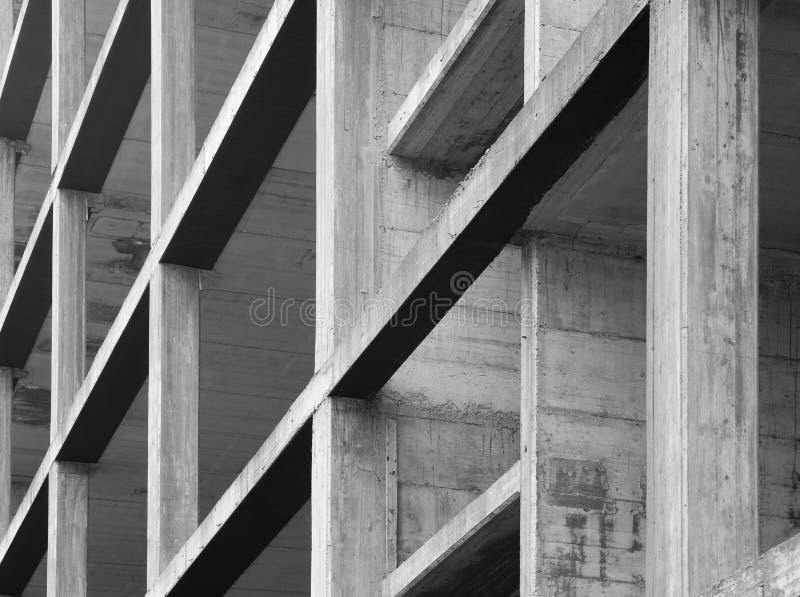 Concrete structure. Modern concrete structure, building under construction royalty free stock image