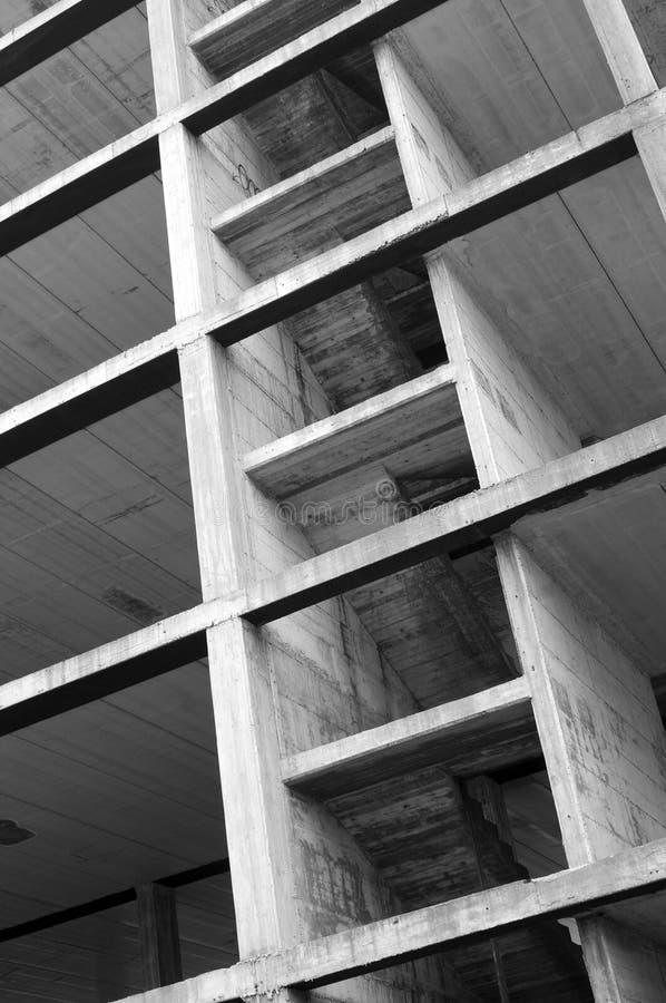 Concrete structure. Modern concrete structure, building under construction stock photography