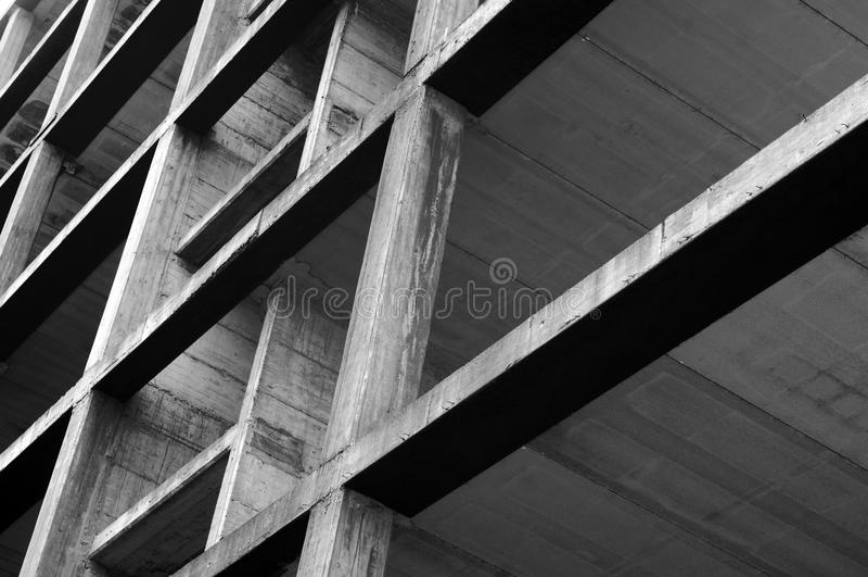 Concrete structure. Modern concrete structure, building under construction royalty free stock images