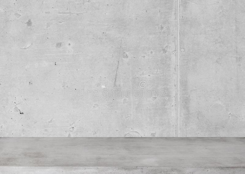 Concrete table and wall royalty free stock photos