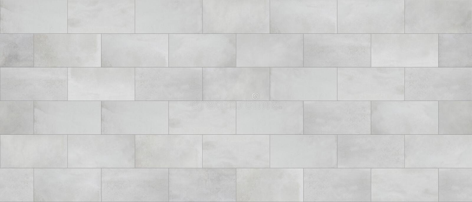 Concrete tile, cinder block wall cladding, seamless texture. Cinder block wall cladding seamless mapping royalty free illustration
