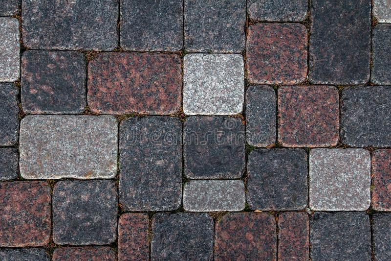 Concrete tile texture. City pavement background. Abstract stone brick pattern. Street sidewalk texture.  stock photo