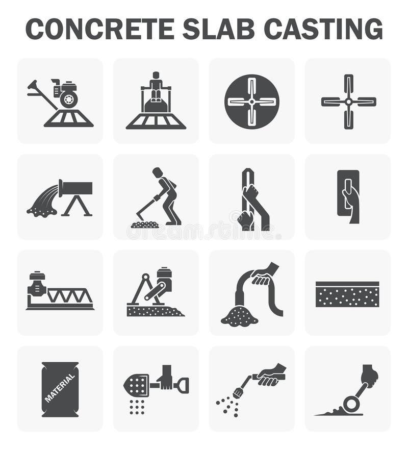 Concrete vloerpictogrammen stock illustratie