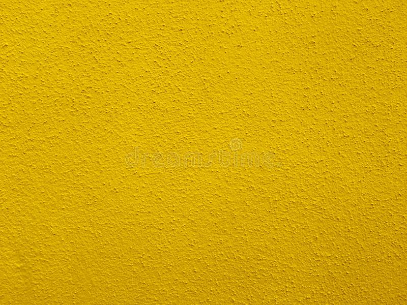 Concrete Wall In Bright Yellow Color Stock Photo - Image of closeup ...