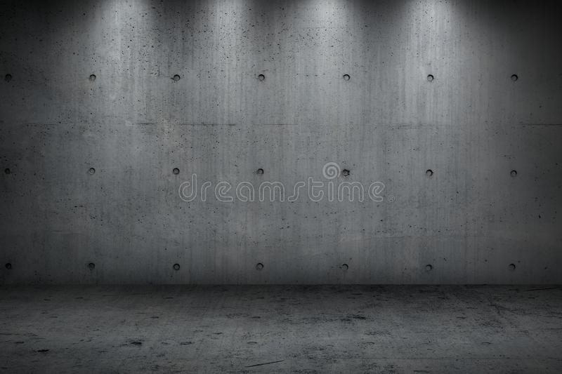 Concrete wall building dark strong room royalty free stock photo