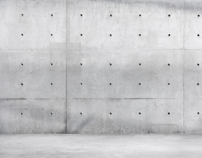Concrete Wall and Cement Floor for Copy Space.  royalty free stock photography