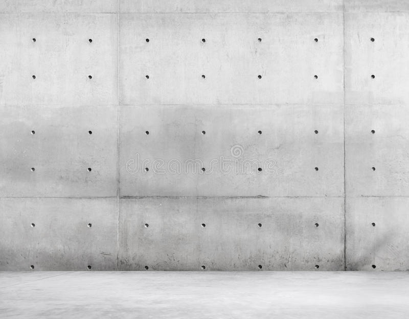 Concrete Wall and Cement Floor for Copy Space.  royalty free stock image