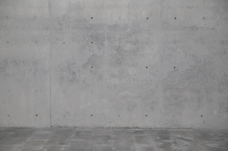 Concrete wall. Element of modern architecture. royalty free stock images