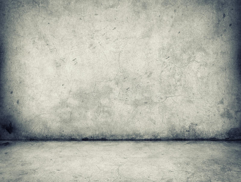 Concrete wall and floor royalty free stock image