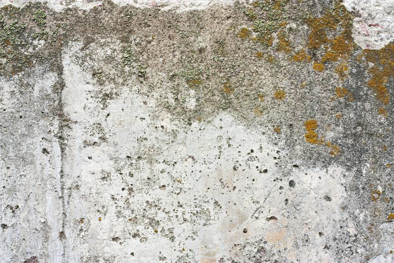 Concrete wall fragment. Old dirty cement texture with defects. Grunge surface with cracks and weathered.  stock photos