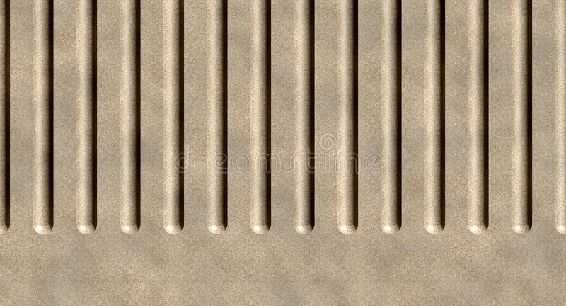 Concrete wall. Grooves in a concrete wall stock illustration