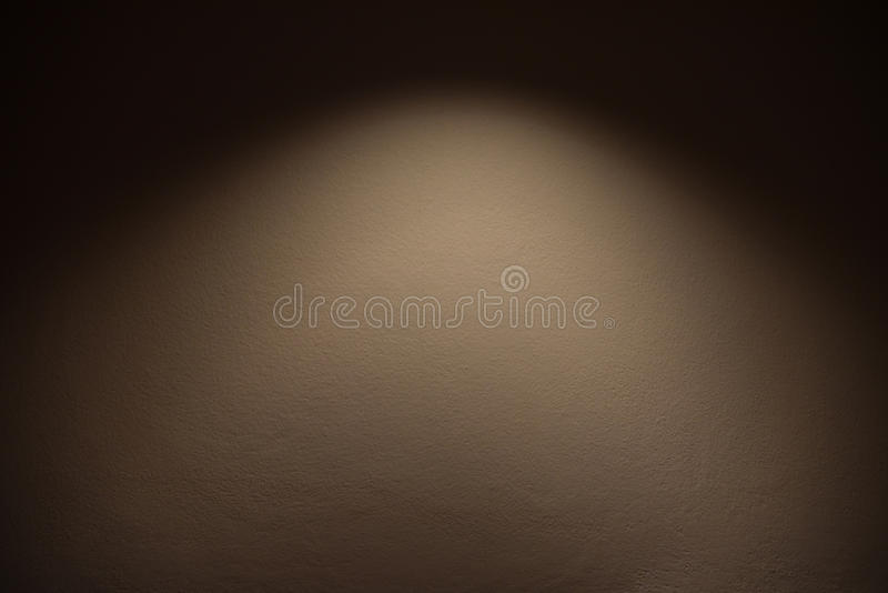 Concrete wall with lights stock image