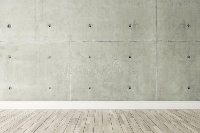 Concrete wall loft style decor, background, template design royalty free illustration