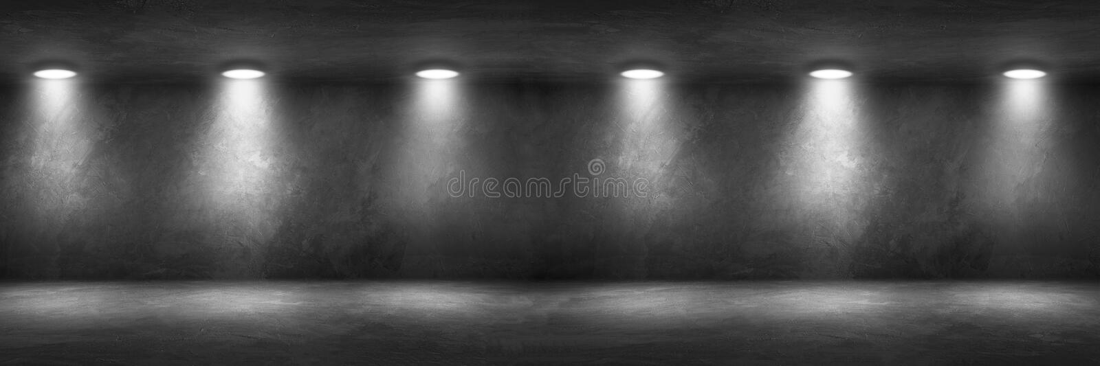 Concrete Wall Room with Floor Empty Garage Interior. Background stock photo